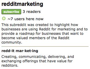 A Subreddit for Discussing Reddit Marketing