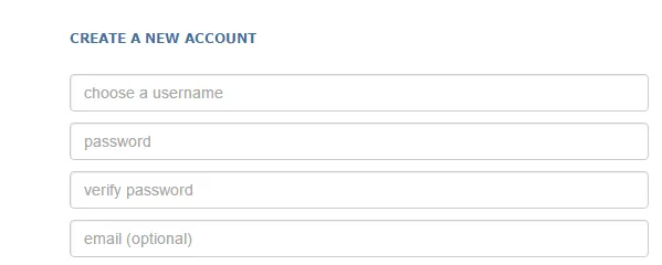 Reddit create an account option