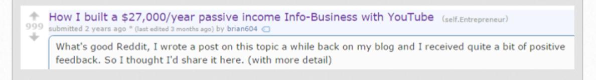 Good Reddit post example