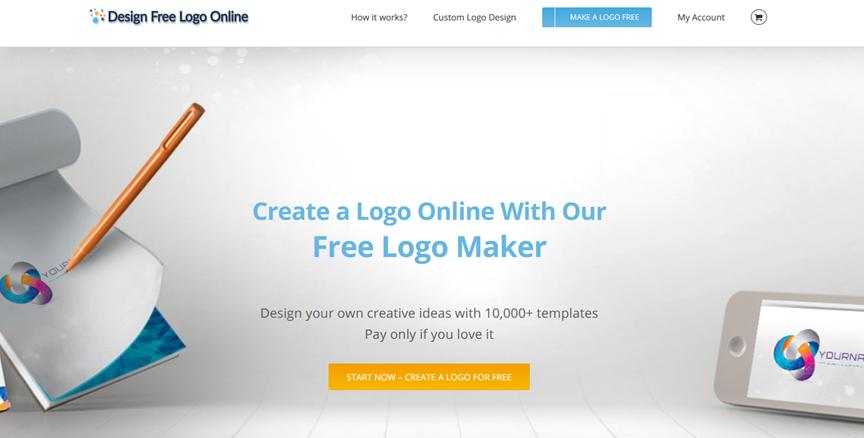 Design Free Logo Online homepage