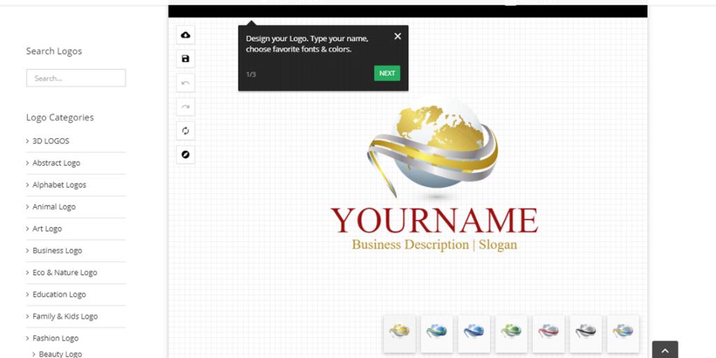 Design Logo Online editor