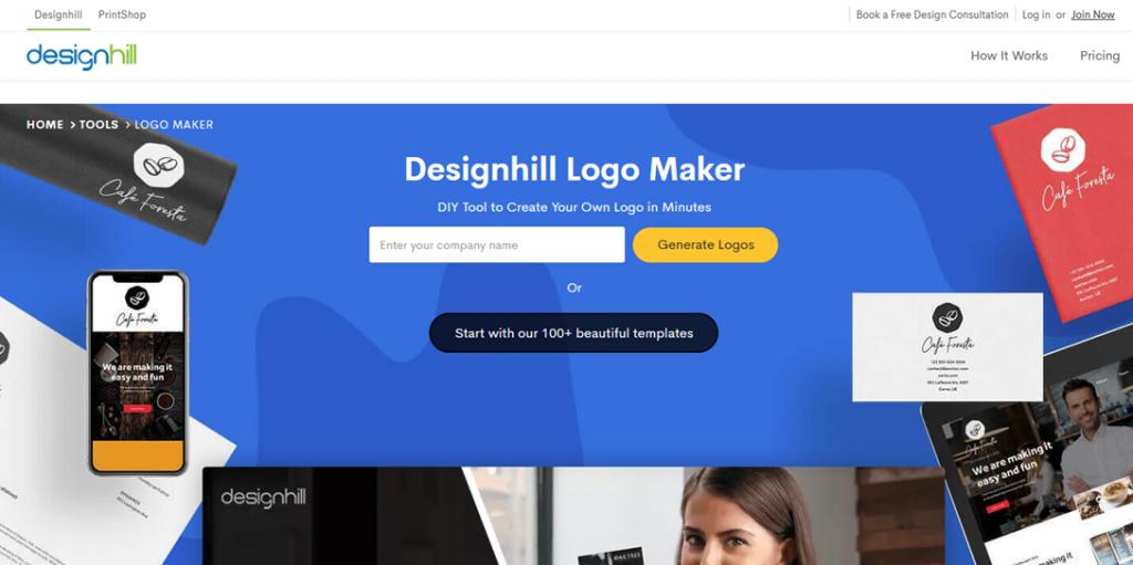 Designhill homepage