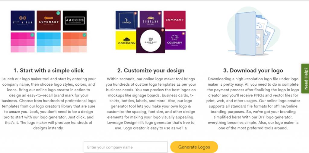 Designhill steps