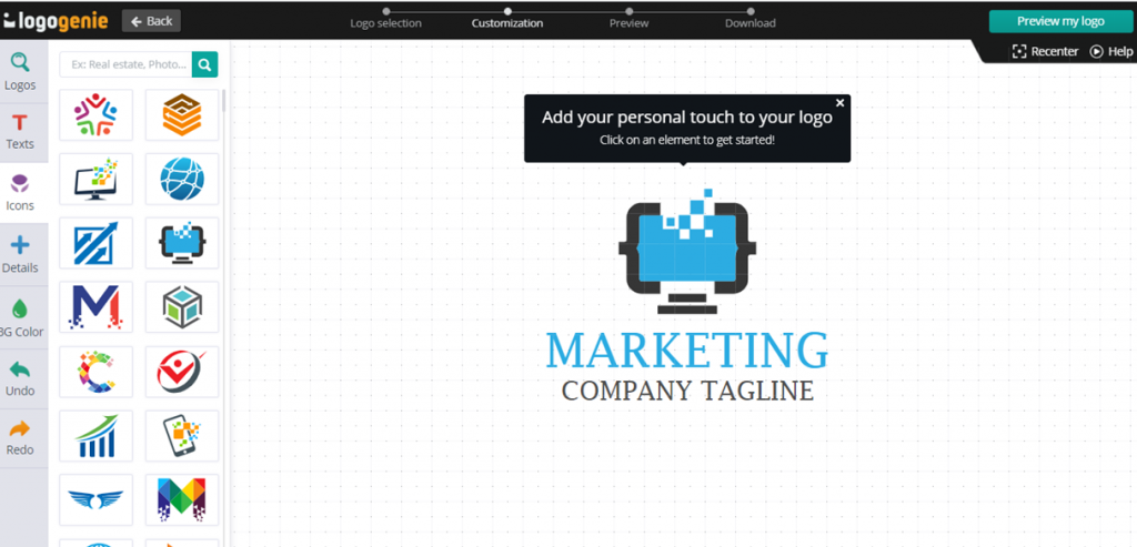 Logogenie Customization
