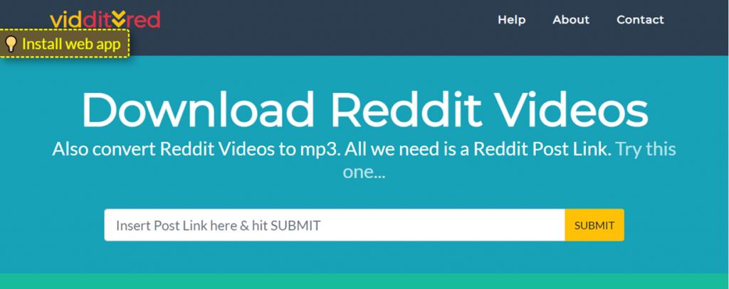 Vidditred website