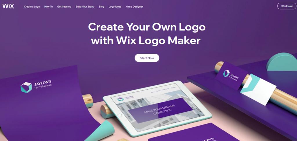 Wix Logo Maker landing page