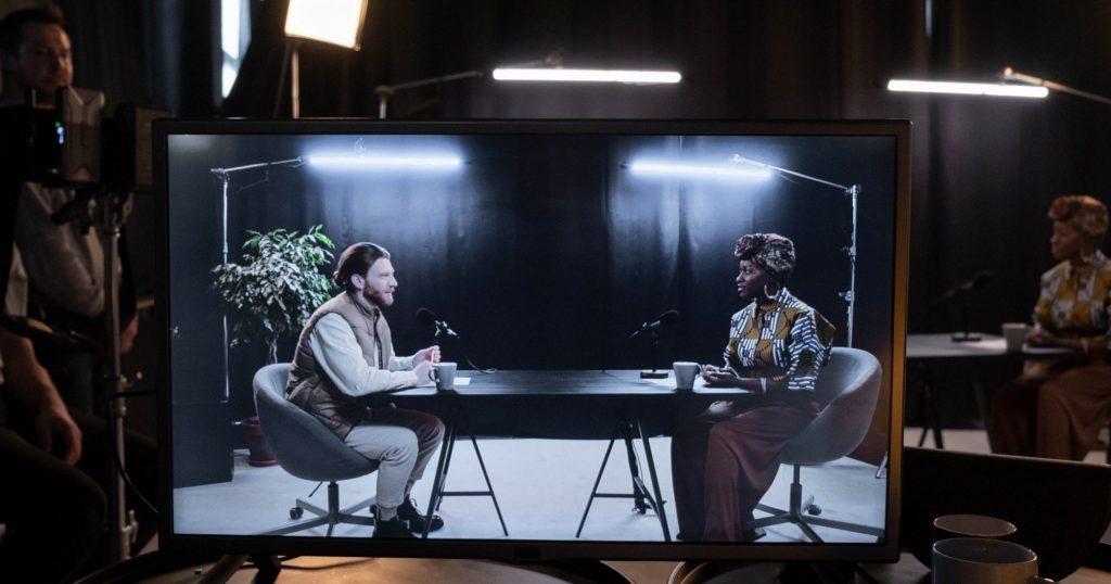 Image of filmed interview
