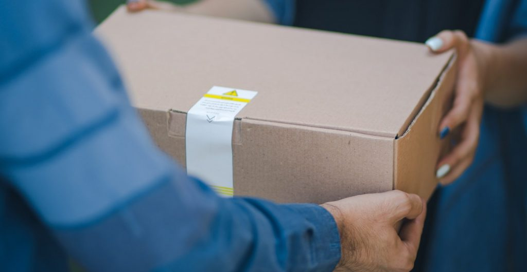 Image of package delivery