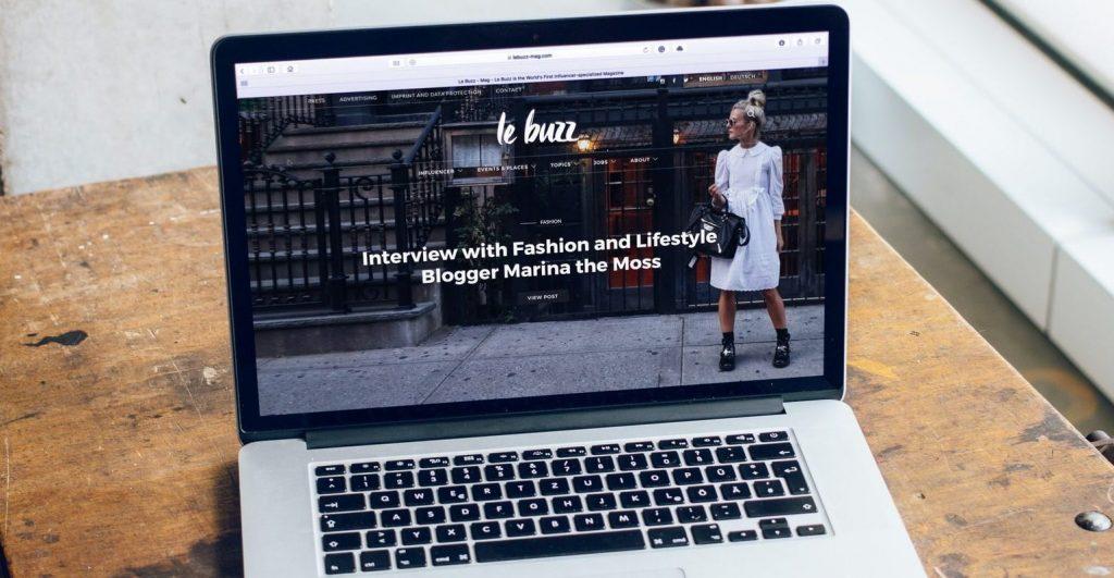Image of website le buzz