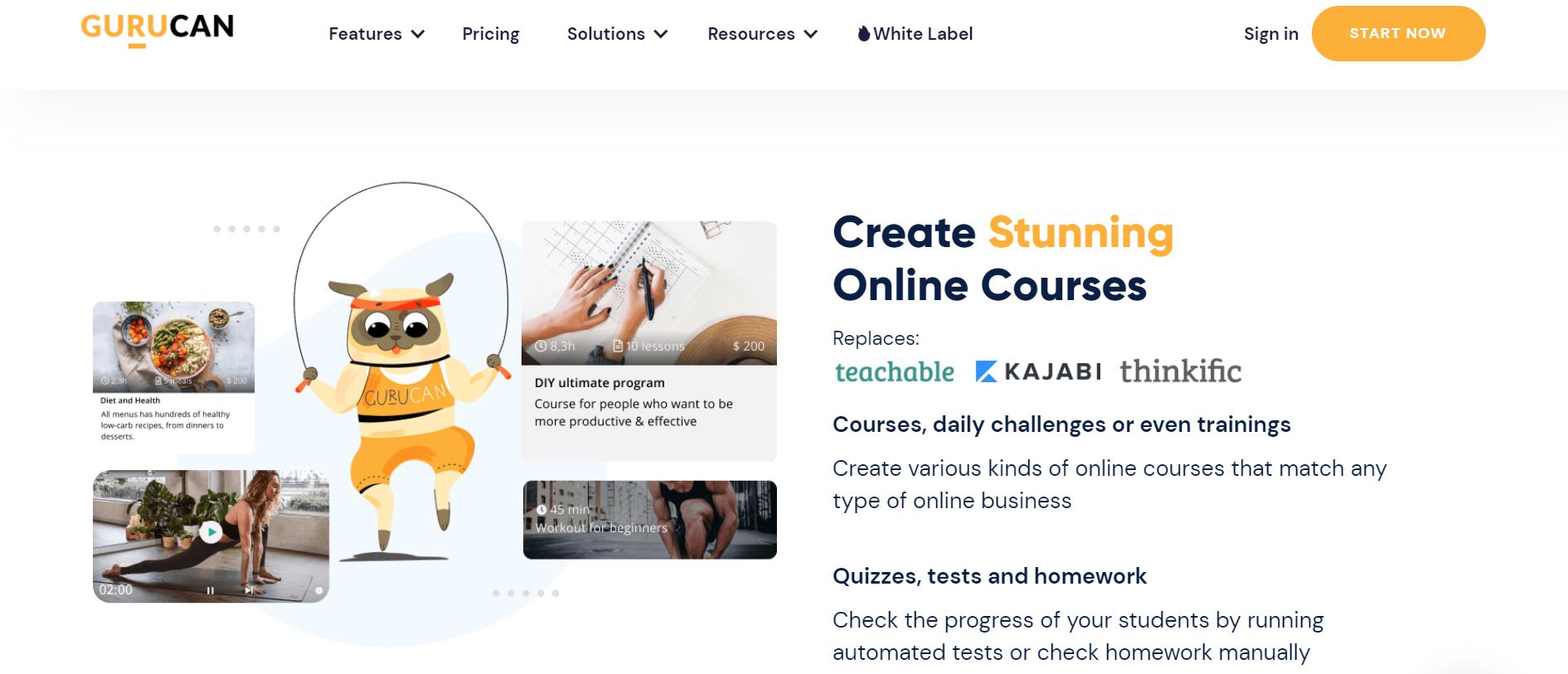 Gurucan course creation