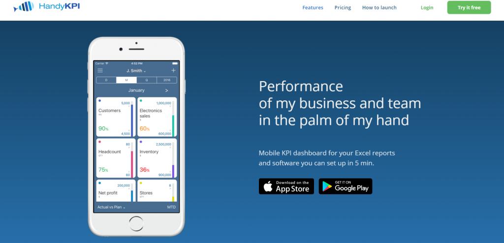 HandyKPI homepage