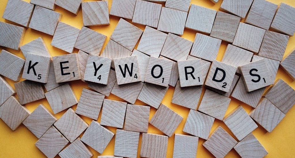 Image of keyword letters