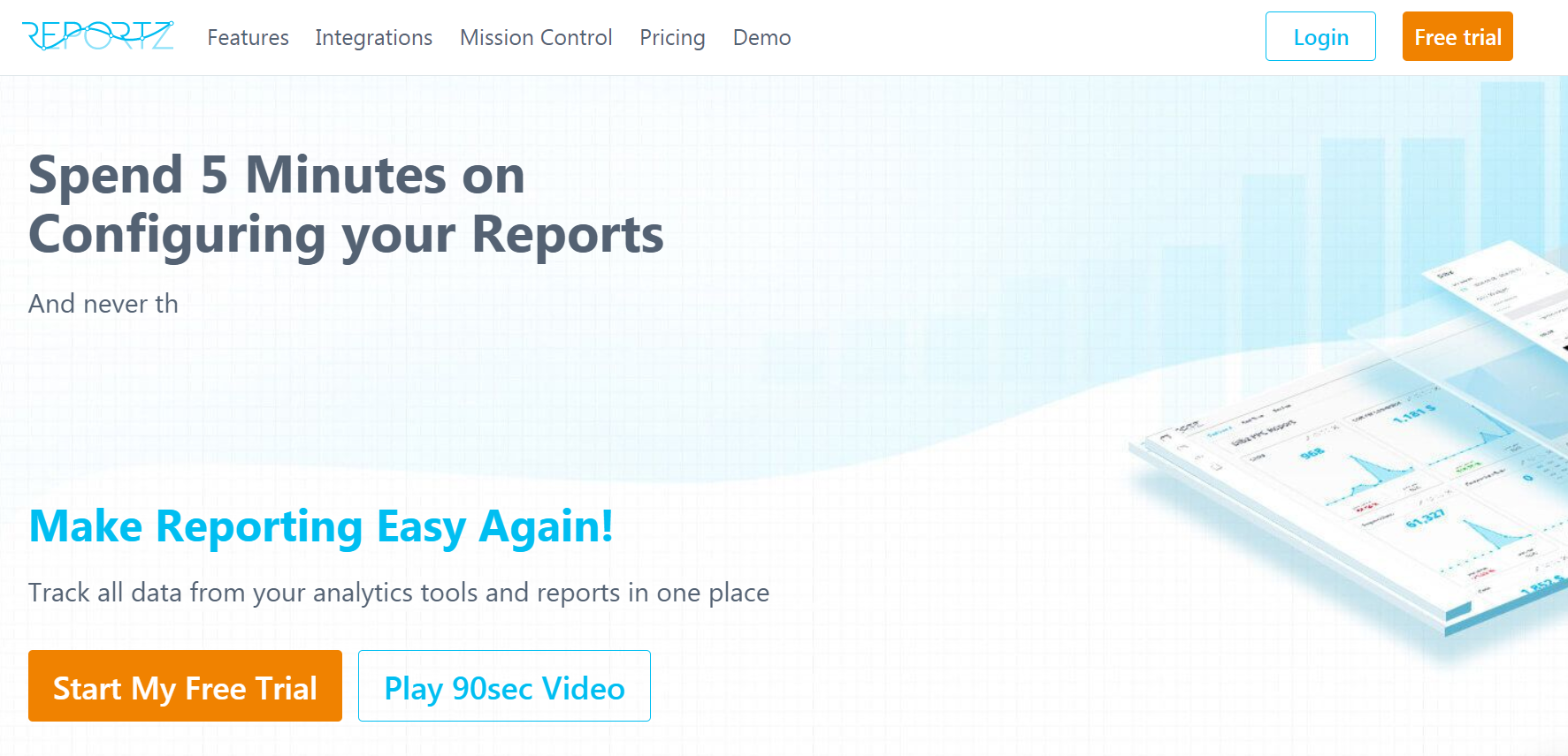 Reportz homepage