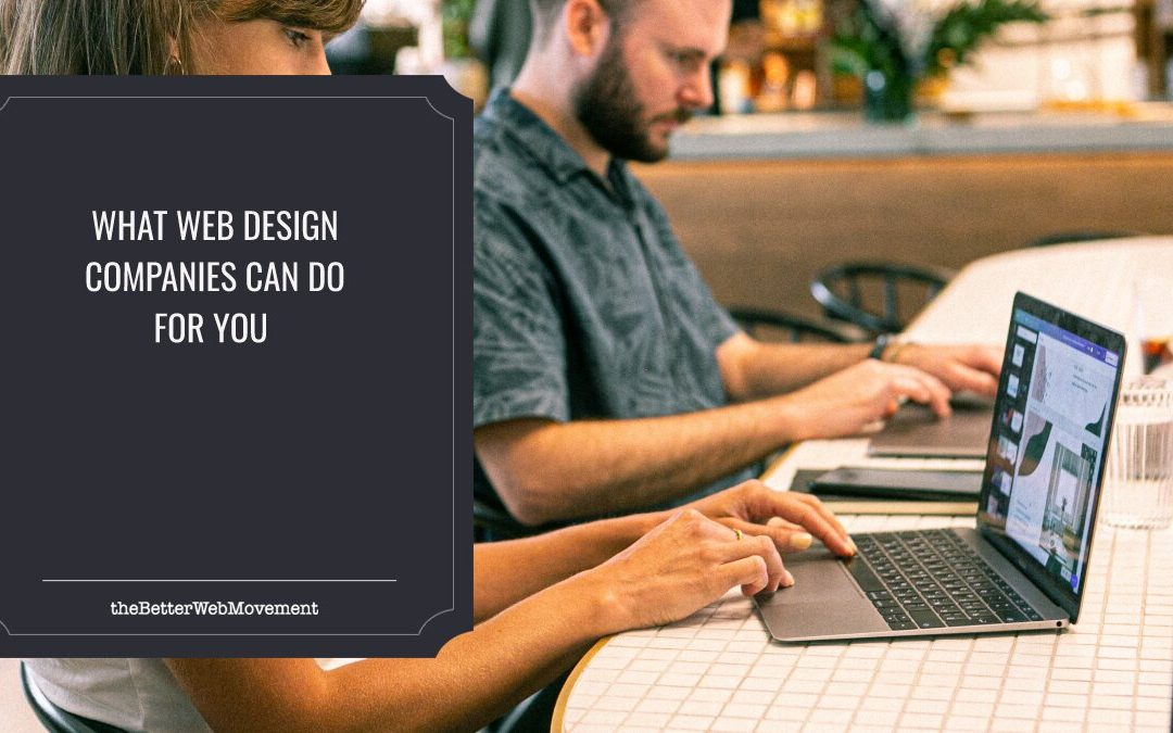 Why Do Web Design Companies Exist? A Short Briefing on What They Can Really Do for You