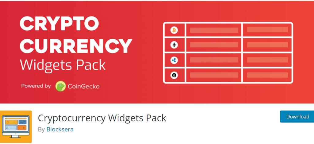 Cryptocurrency Widget Widgets Pack banner