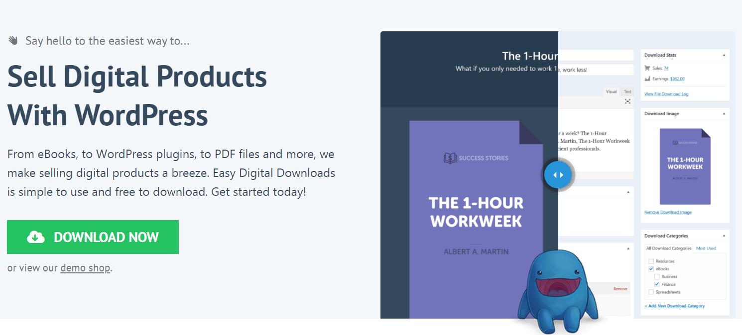 Easy Digital Downloads Homepage