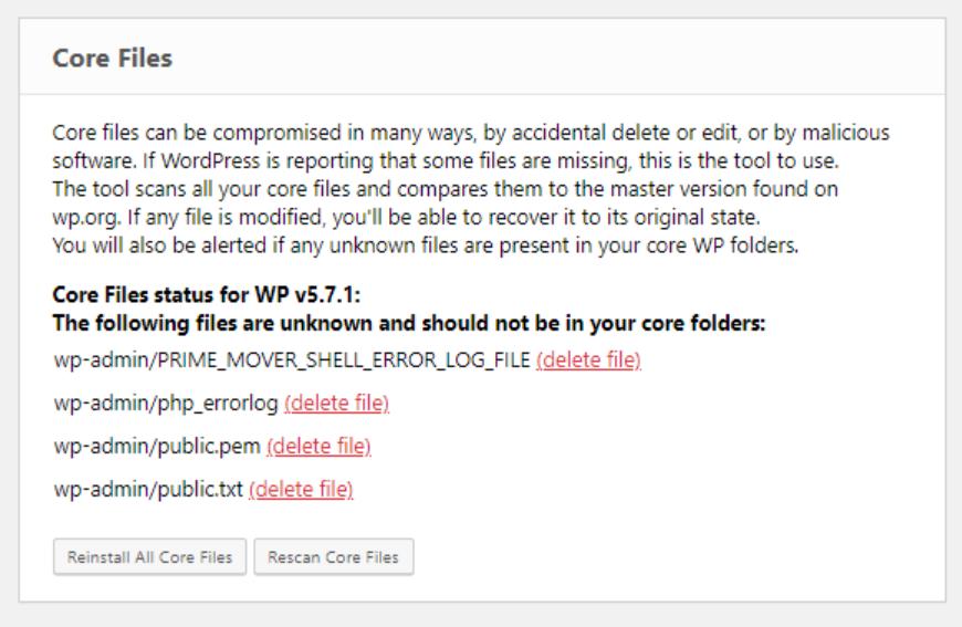 ERS core files