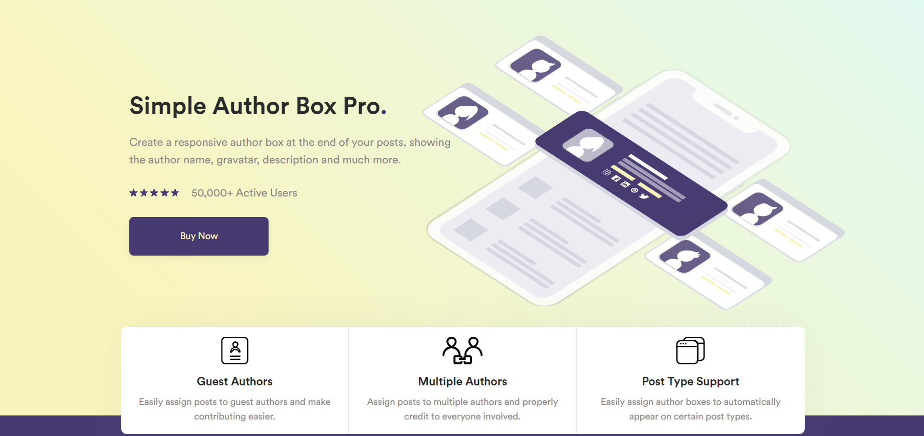 Simple Author Box homepage