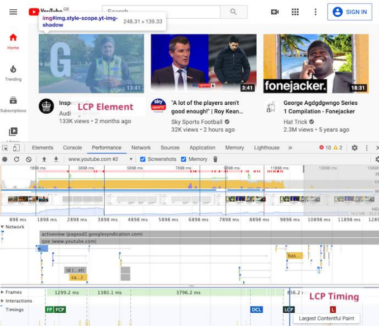 PageSpeed Insights example three