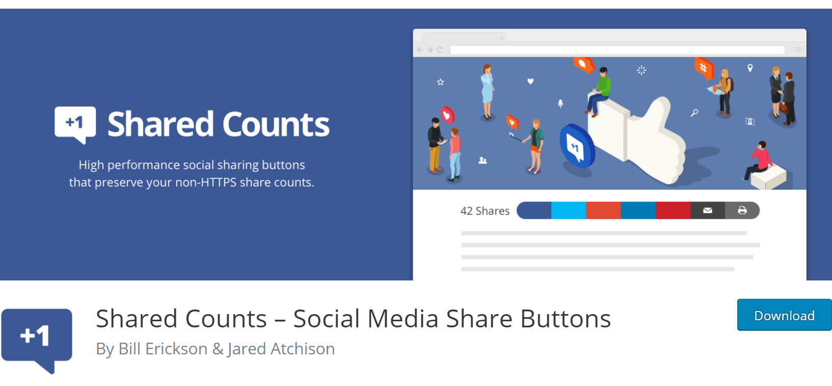 Shared Counts banner