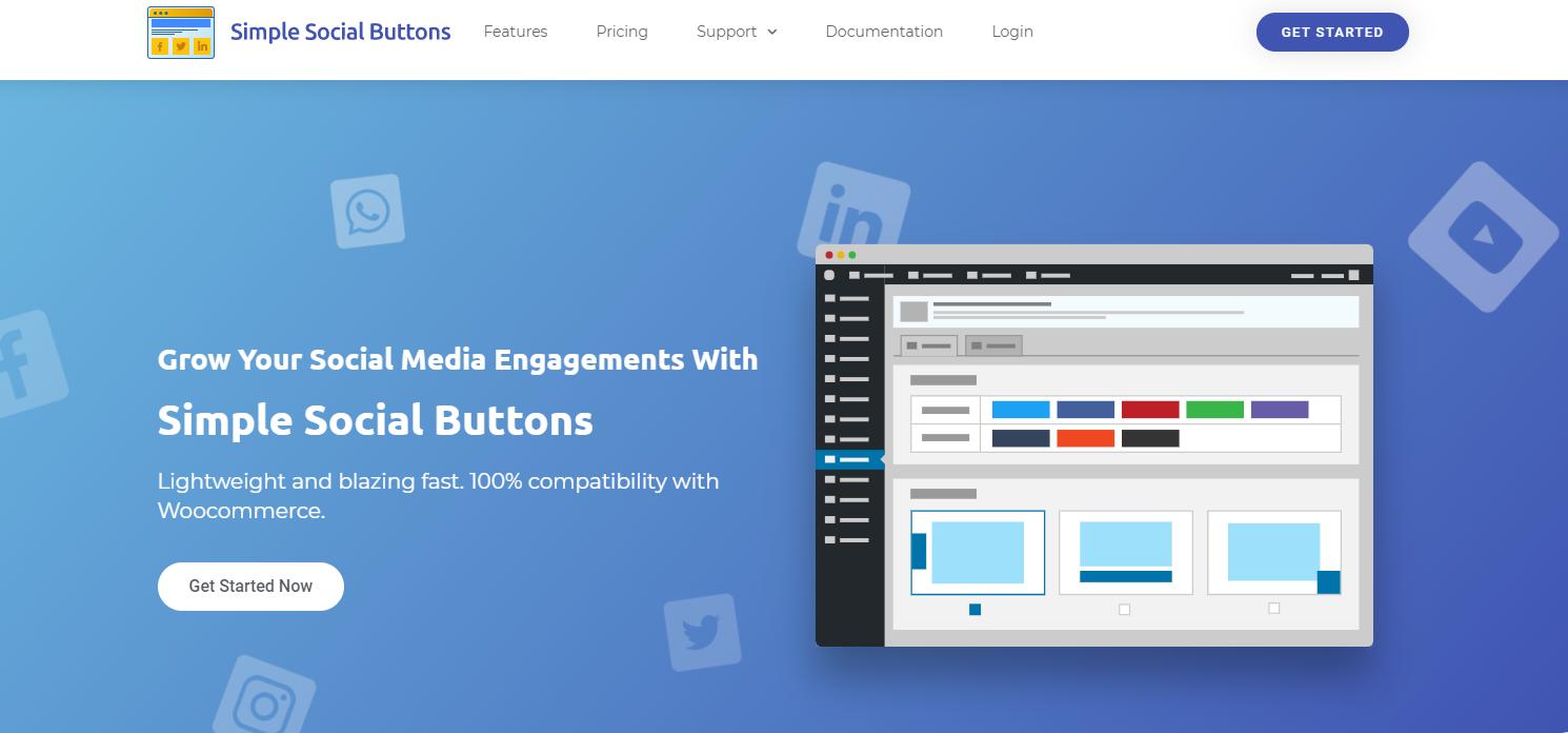 Simple Social Buttons website