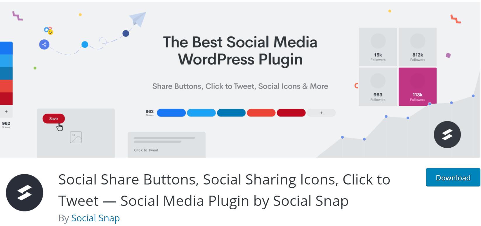 Social Meida Plugin by Social Snap banner