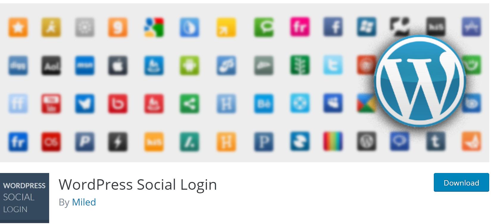 WordPress Social Login banner