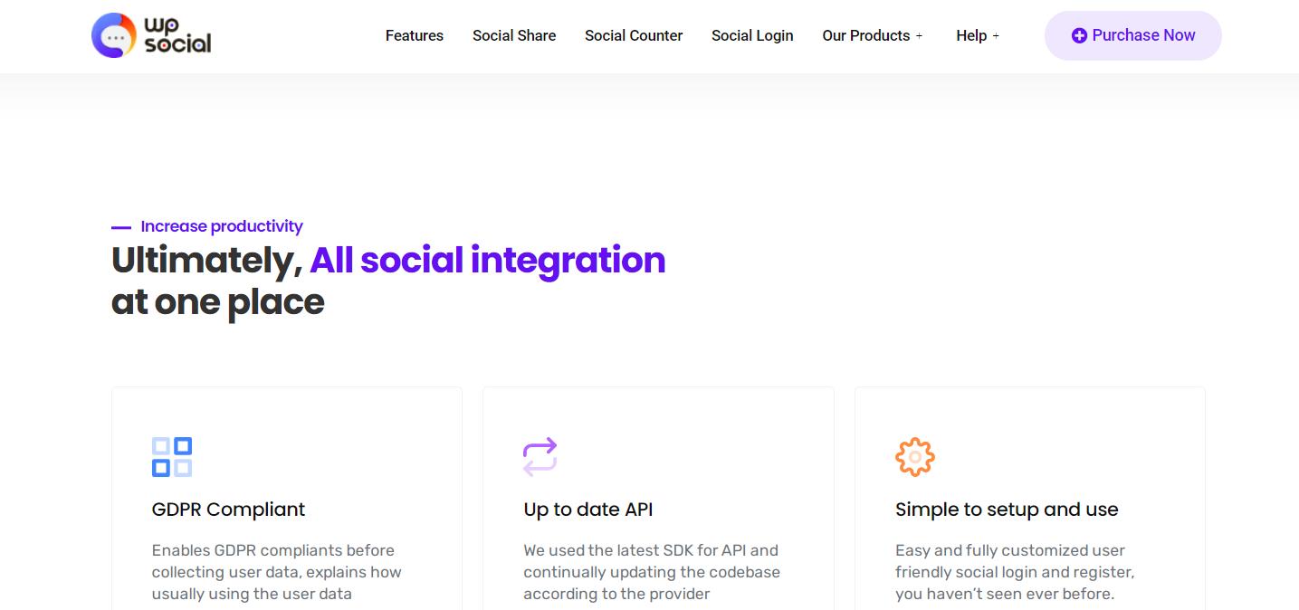 WP Social homepage