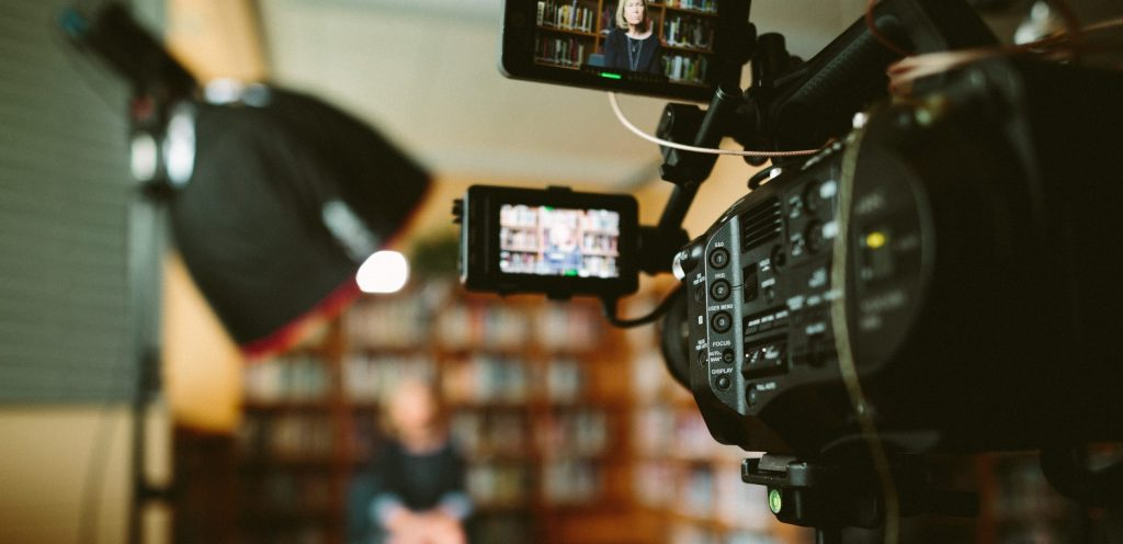 A snap shot of our Sony FS7 cinema camera system from our film set, while producing a documentary series for the Holocaust Center for Humanities. Here we are interviewing a local high school about their experience with some of the Center's teaching materials.