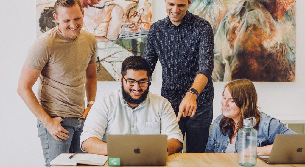 Happy People in Office