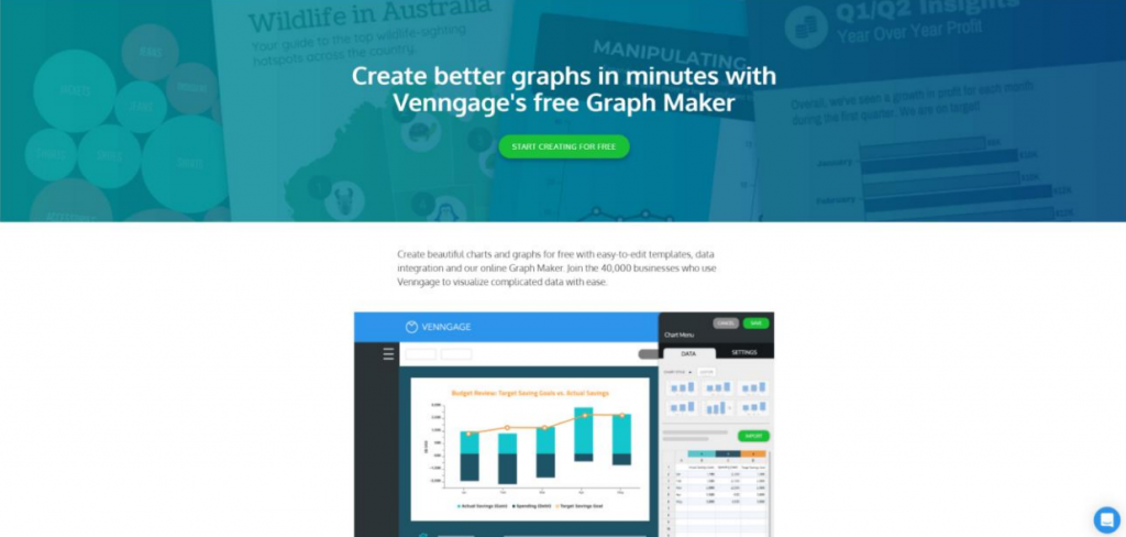 Venngage homepage