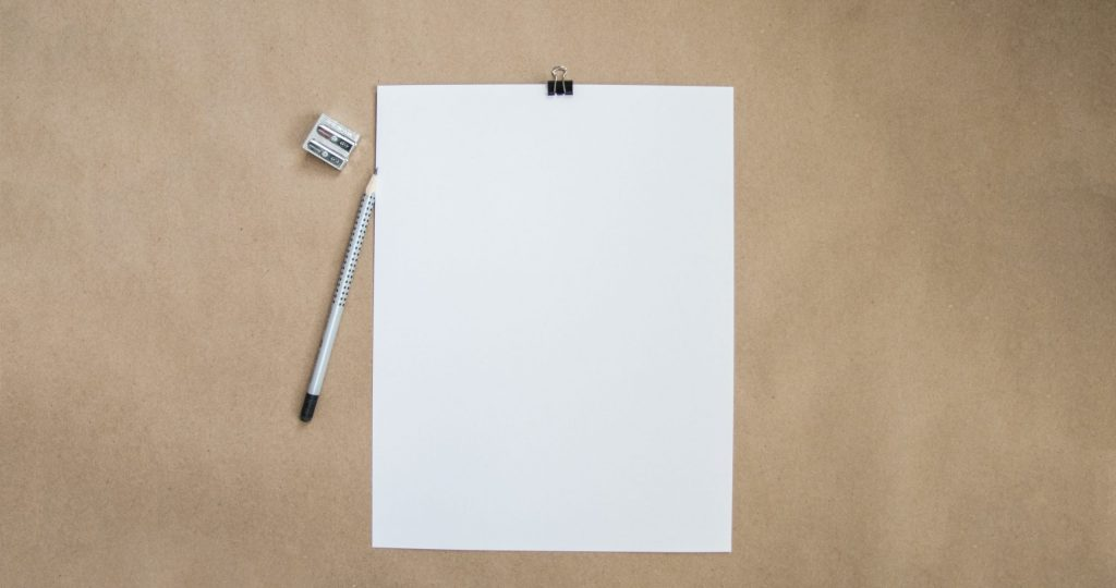 Blank Paper and Pencil