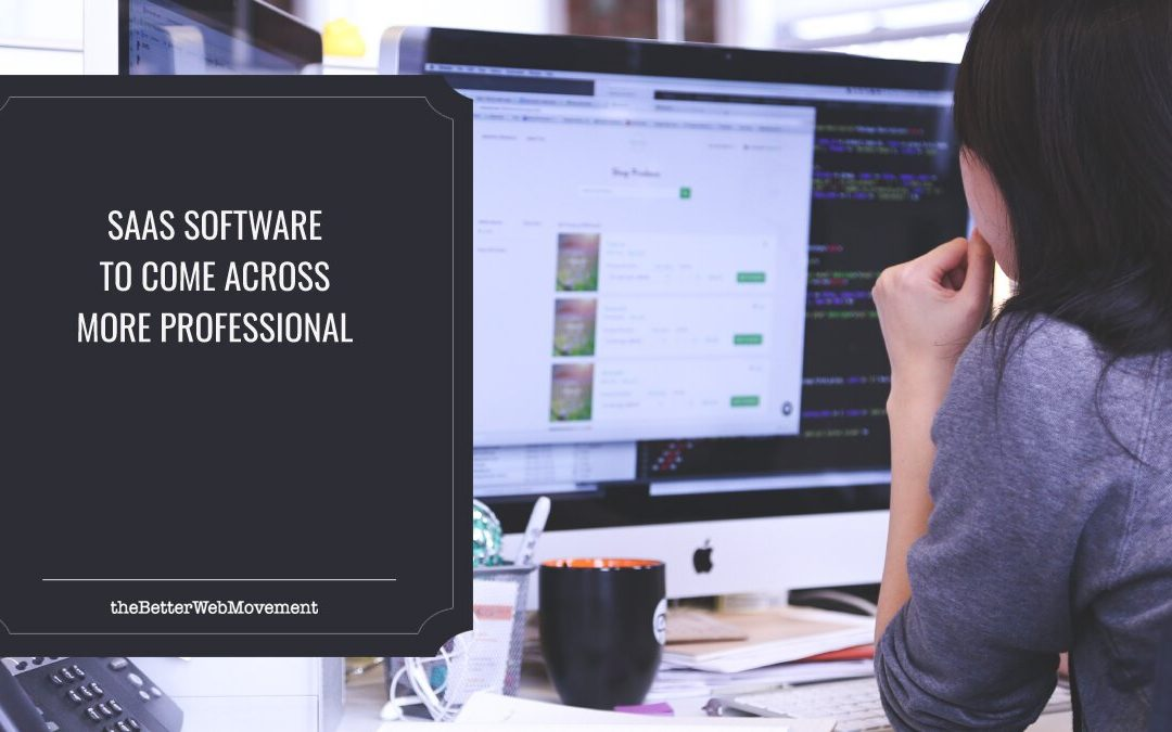 SaaS Software To Help You Come Across More Professional